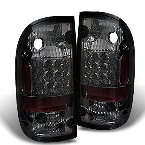 Xtune Sm 1995-2000 Toyota Tacoma LED Tail Light Rear Smoke Brake Lamps Set Light Pair Left+Right 1996 1997 1998 1999