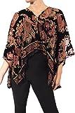Joseph Ribkoff Velvet Burnout Poncho Cover Up Style 173740 Size S/M