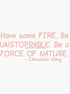 Christina Yang Quote 1 Sticker - Sticker Graphic - Auto, Wall, Laptop, Cell, Truck Sticker for Windows, Cars, Trucks