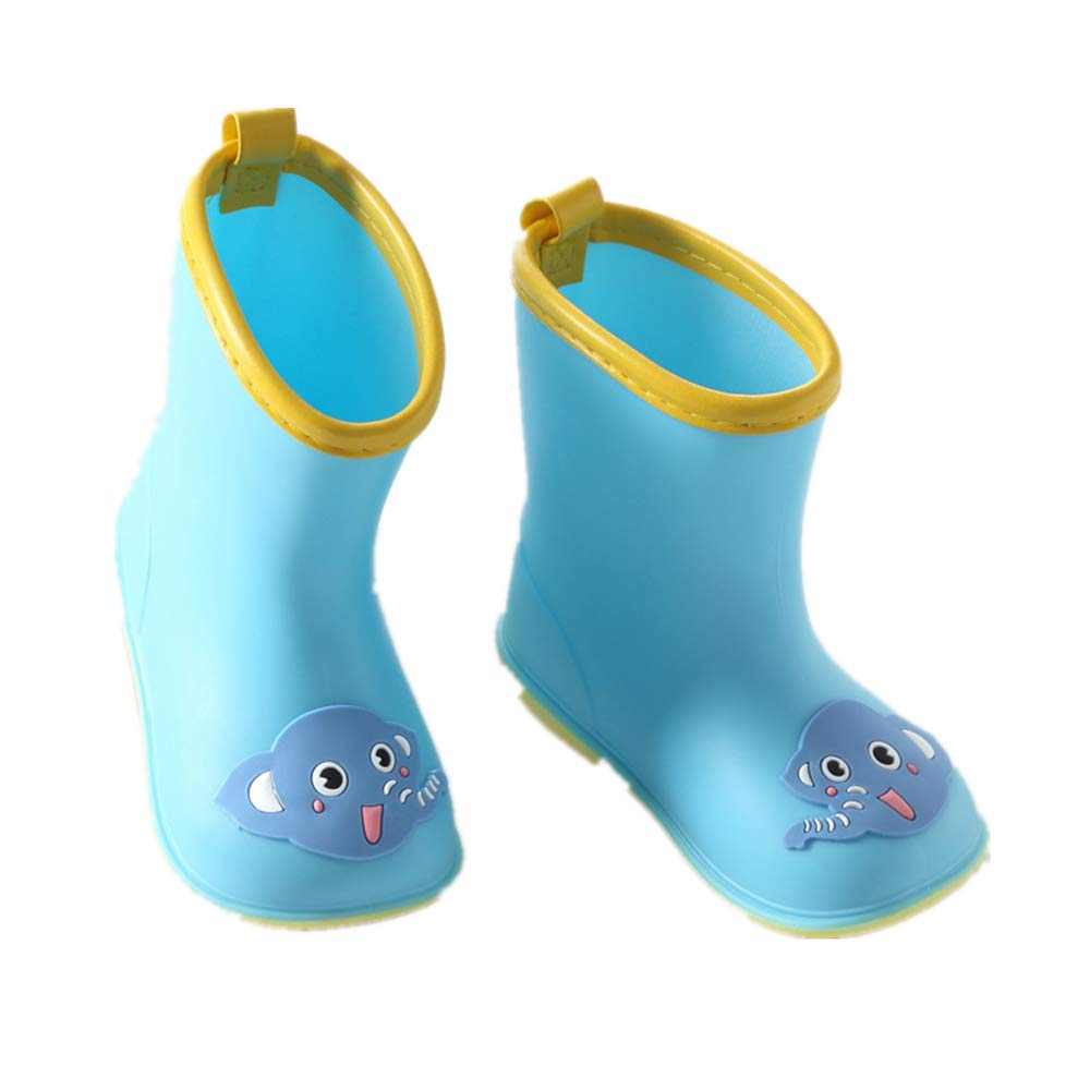 Super color Toddler//Little Kid Rain Boots Kids Lightweight Cute Patterns Waterproof Water Shoes