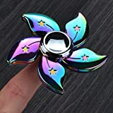 Fidget Spinner UCLL Bauhinia Flower Hand Spinning Toy EDC Focus Stress Reducer Toy Perfect for Girl