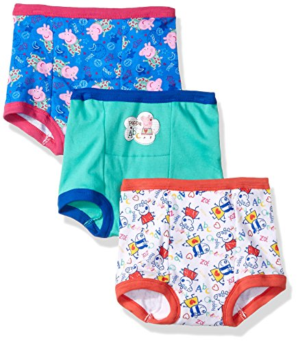 Peppa Pig Toddler Girls' 3pk Training Pant, Assorted Peppa, 2T]()