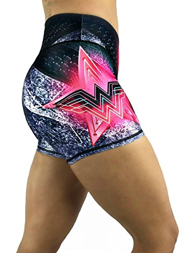 Activewear Crossfit Superhero Yoga Women's Booty Boy Gym Shorts (Several Styles) (Wonder Woman ()