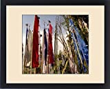 Framed Print of Prayer flags at a Buddhist Monastery, Sikkim, India