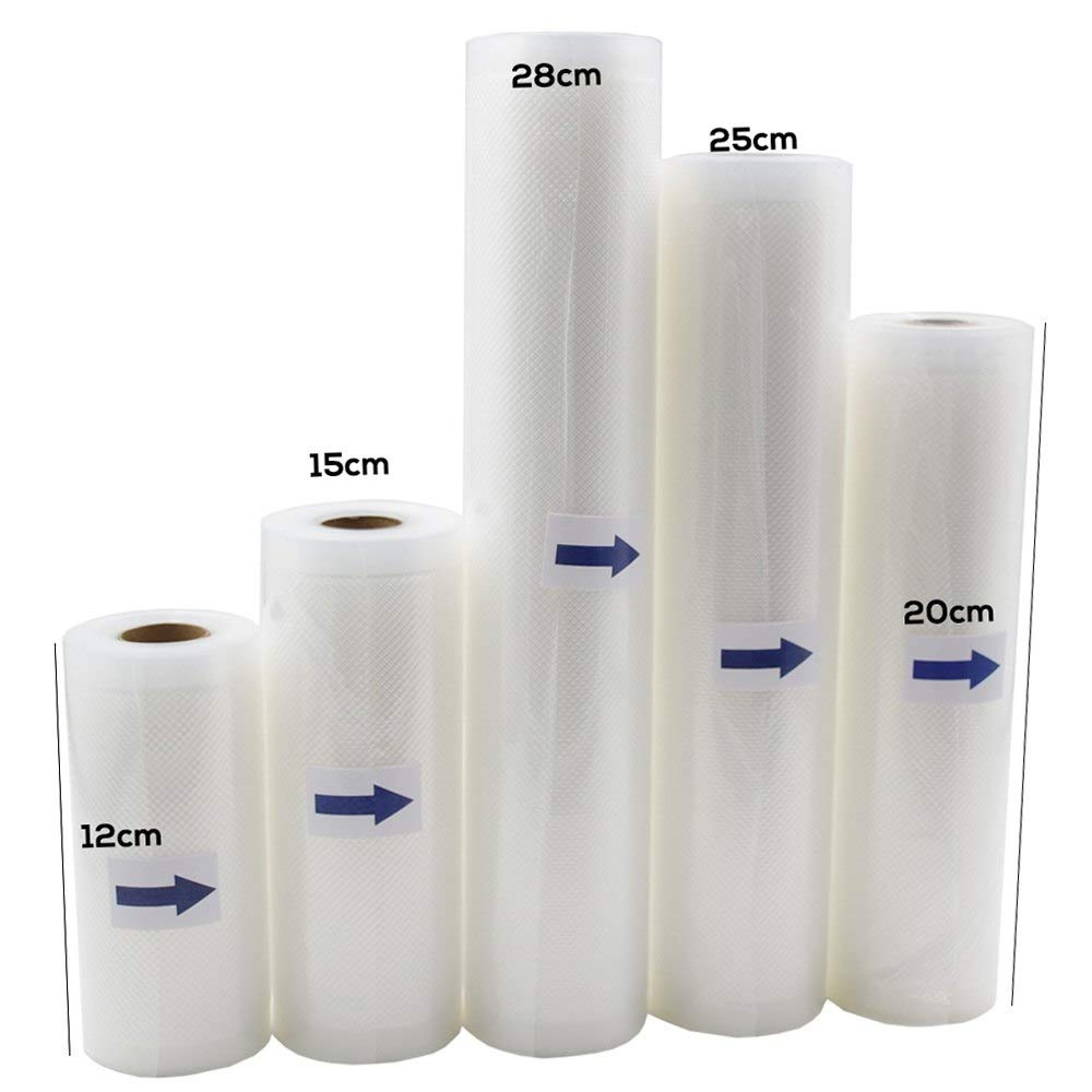 5 Rolls/Lot Kitchen Food Vacuum Bag Storage Bags for Vacuum Sealer Food Keep 12+15+20+25+28cm*500cm