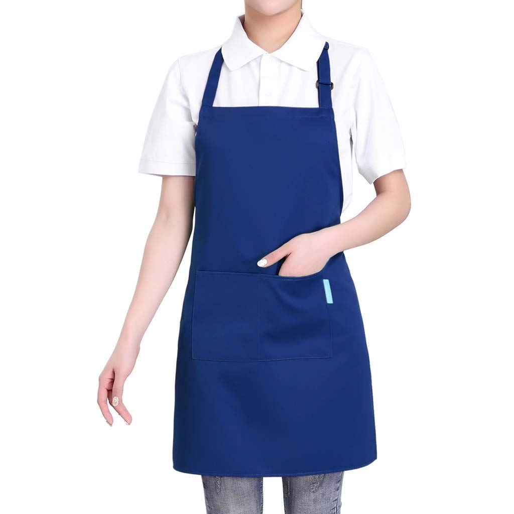 Sunsee Dress Clearance Sales, Women Apron Fashion Coffee Shop Waist Kitchen Adult Florist Home Gown Work Dress (Free Size, Blue)