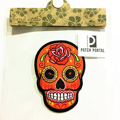 Root From Guardians Of The Galaxy Costume (Orange Mexican Sugar Skull Candy 3.5
