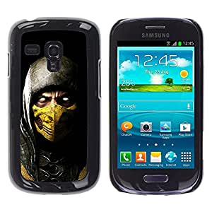 A-type Arte & diseño plástico duro Fundas Cover Cubre Hard Case Cover para Samsung Galaxy S3 MINI i8190 (NOT S3) (Escorpión Mc Mortal Combat)