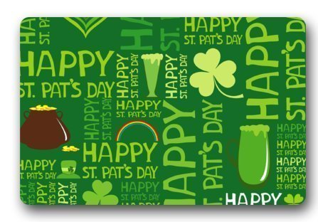 Ashasds Happy St.Patrick'S Day Green Drink Rainbow Creative Home Decorations Rug Rectangle Size: 23.6x15.7,Multi-function Indoor Outdoor Doormat