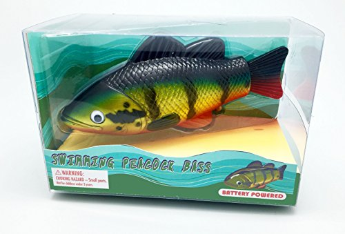 (Peacock Bass, Realistic Swimming Fish Water Pool & Bath Toy 8