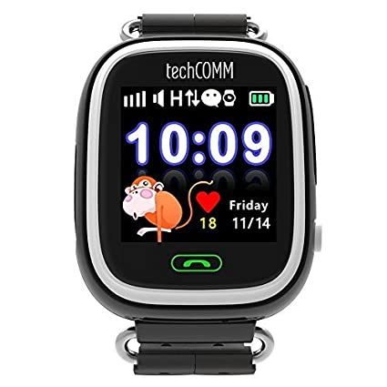 Amazon.com: techcomm Q90 GSM desbloqueado niños Smartwatch ...