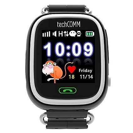 Amazon.com: techcomm Q90 GSM desbloqueado niños Smartwatch ...