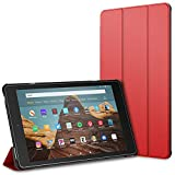 "JETech Case for Amazon Fire HD 10 Tablet 10.1"" (7th / 9th Generation, 2017 Release / 2019 Release) Smart Cover with Auto Sleep/Wake, Red"