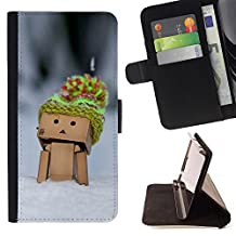 For LG G4,S-type Funny Cute Box Man - Drawing PU Leather Wallet Style Pouch Protective Skin Case