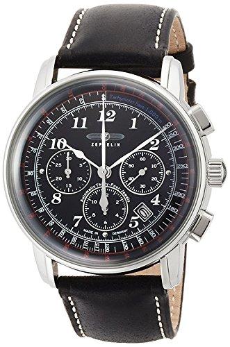 ZEPPELIN watch LZ126 Los Angeles black dial chronograph self-winding 7624-2 Men's