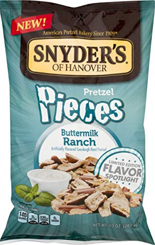 Snyders of Hanover Flavored Pretzel Pieces- 10 oz. Bags (Buttermilk Ranch, 4 Bags)