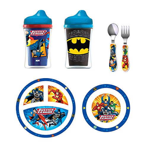 NUK Toddler Feeding Set, Justice League & Batman