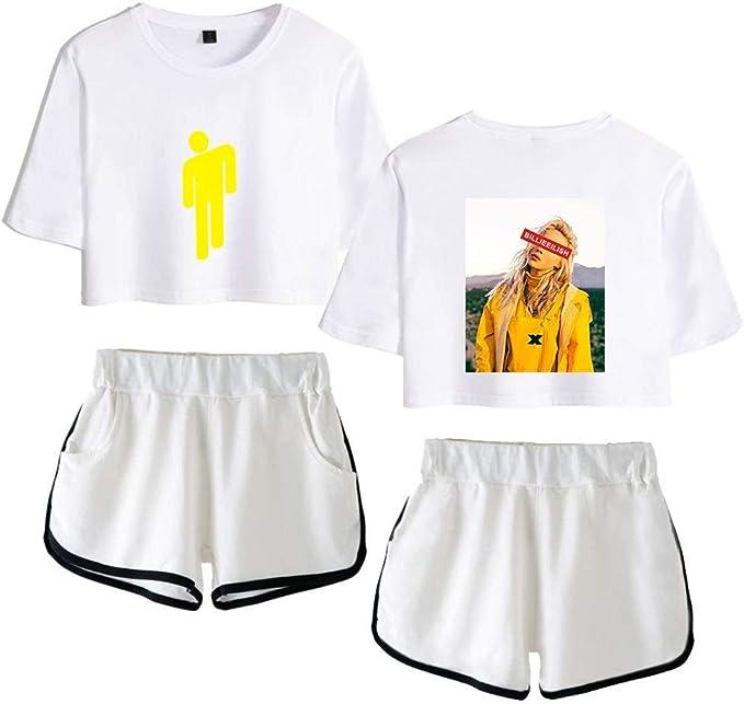 Billie Eilish Printed Neuheit Casual Pullover Tee Shirt Kurzarm Shorts Set Unisex Sommer Beilaufige Kurze Shorts Hulsen T Shirts T Stucke For Music Fans Amazon De Bekleidung