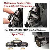 HD Lens Filters MCUV+ND8+CPL Gimbal Camera Accessorie for DJI MAVIC PRO Drone