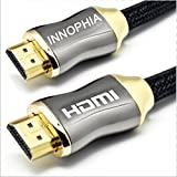 Innophia High Speed HDMI Cable 3ft (1M) - Supports Ethernet, 3D and Audio Return - UltraHD 4K Ready 2160p 1080p - Latest Specification