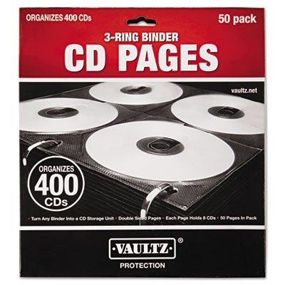 CD/DVD Sleeve Refill, Blk/Clr, PK 50 by (Dvd Sleeve Refills)