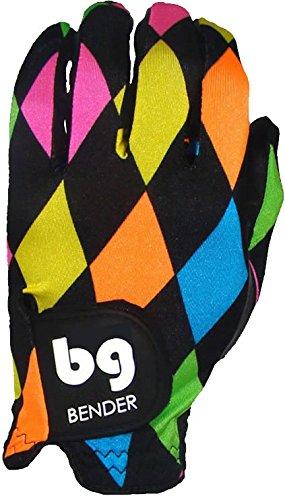 Bender Gloves Men's Spandex Golf Glove, Worn on Left Hand (Argyle, Large)