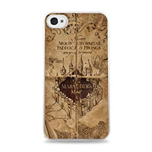Marauders Map White Silicone Case for iPhone 6 Plus (5.5 inch) i6+