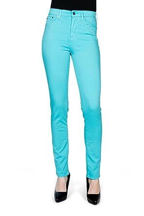 3d85d05563d3 Kañopé Mandarine Color-Pantalon Toile Coupe Slim-Femme  Amazon.fr ...