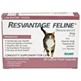 Resvantage Feline – Resveratrol – The Longevity Supplement for Cats – 30 Capsules For Sale