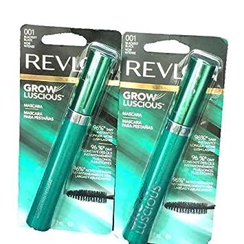 Revlon Grow Luscious Blackest Black Mascara 96% saw longer lashes-Total 2 Mascaras