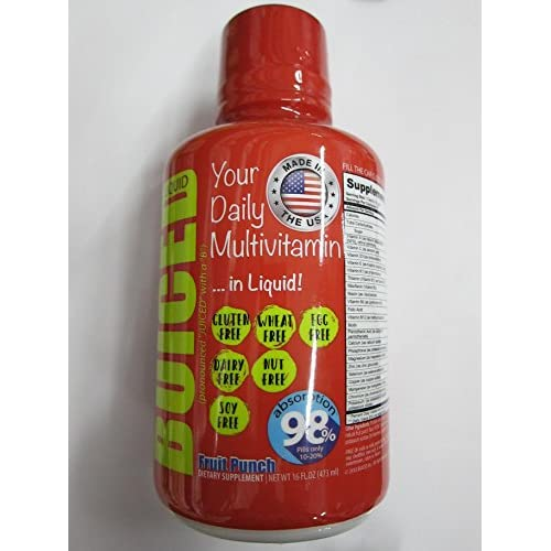 Cheap Buiced Liquid Multivitamin, Fruit Punch, 16 fl oz (Pack of 2) for cheap