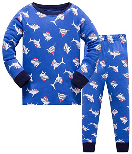 Tkala Boys Pajamas Winter Outfits Clothes Long Set Pjs Dinosaur 100% Cotton Little Kids Sleepwear 2-12 Years