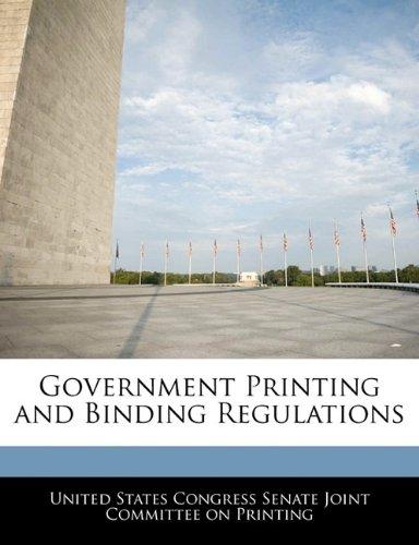 Government Printing and Binding Regulations pdf epub