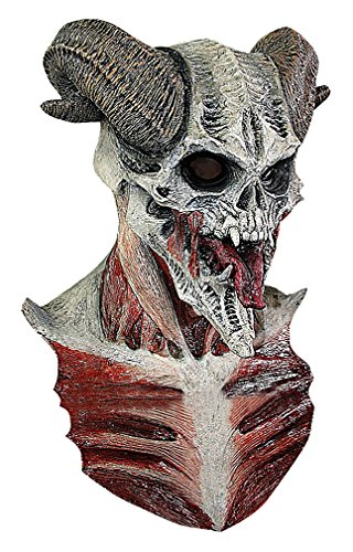 Maze Horrible Real Looking Horned Demon From Hell Full Face & Bust Latex Mask, 1- One Size ()