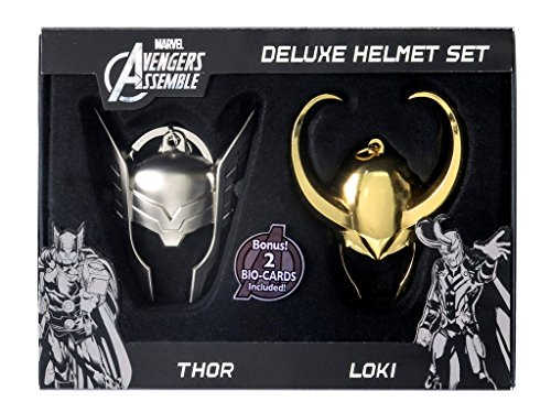 Marvel Limited Edition Loki and Thor Helmet Key Ring Set (2-Piece)