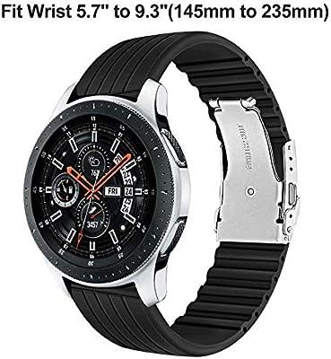 TRUMiRR 22mm de Silicona de Acero Inoxidable Reloj de Goma de la ...