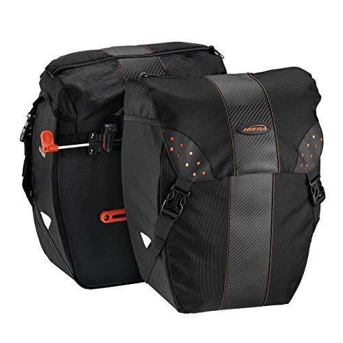 kRak Clip-On Quick-Release All Weather Bike Panniers (Pair), Includes Rain Cover ()