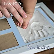 Baby Handprint kit & Footprint Photo Frame for Newborn Girls and Boys, best Baby Shower Gifts Set for Registry, Baby Footprint, Keepsake Box Decorations for Room Wall Decor Its Perfect baby Gift