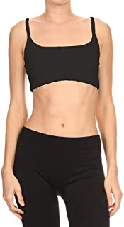 product image for Dippin' Daisy's Solid Black Women's Dual Horizontal Strap Sports Bra (Includes Bra Cups)
