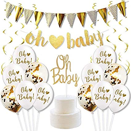Amazon Com Oh Baby Decorations For Baby Shower Gender Neutral