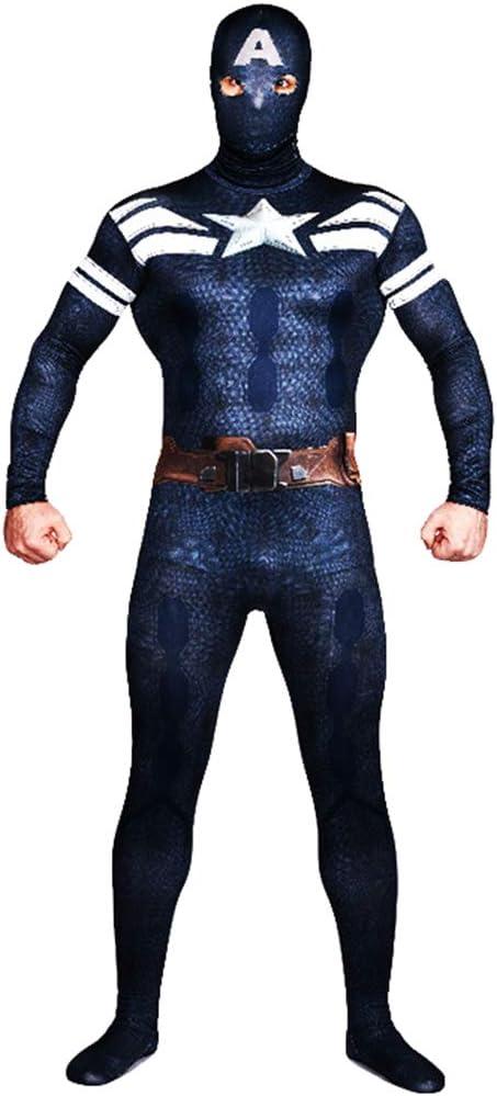 AEMUT Impresión Adulto Mono Marvel Capitán América Cosplay The ...