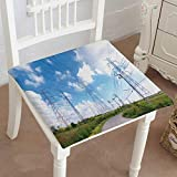 Mikihome Indoor/Outdoor All Weather Chair Pads high Voltage Power Pylon Against Blue Sky Seat Cushions Garden Patio Home Chair Cushions 28''x28''x2pcs