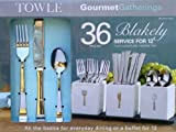 Towle Blakely 36-Piece Flatware Set with Caddies