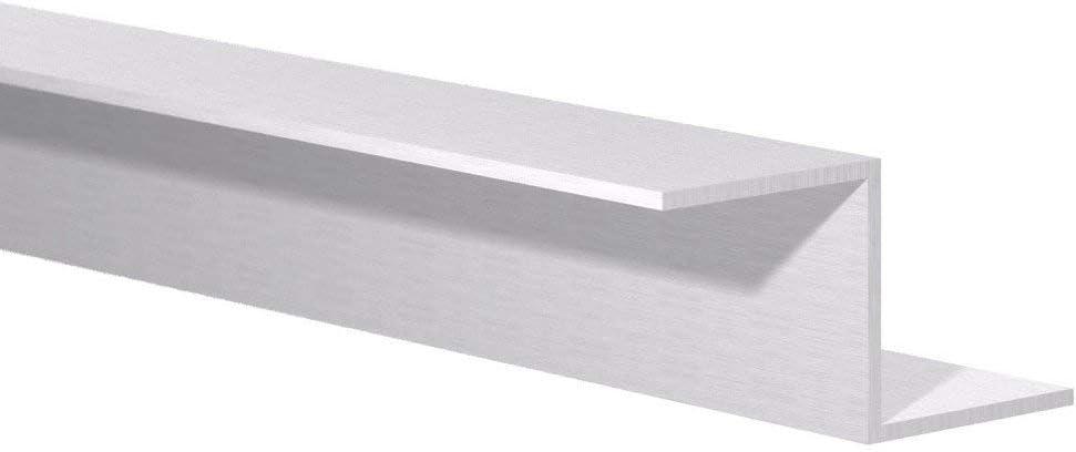 """1//2/"""" W x 1/"""" H x 1//16/"""" Wall Aluminum Channel: Fits 3//8/"""" Mill Finish 8 Foot"""