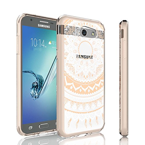 Cheap Girl Galaxy J7 2017 Case, J7 Perx Case,J7 Sky Pro Case, Tinysaturn [YCoral Series] [Rose Gold] Transparent Adorable Ultra Slim Clear Hard TPU Skin Scratch-Proof Bumper Case For Samsung J7 2017 J7 V
