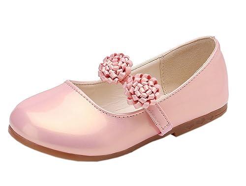 Amazon vokamara flower girl shoes basic round toe patent vokamara flower girl shoes basic round toe patent ballerina flats pink 15 mightylinksfo