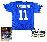 "Steve Spurrier Autographed/Signed Florida Gators NCAA Blue Custom Jersey with ""66 Heisman"" Inscription"