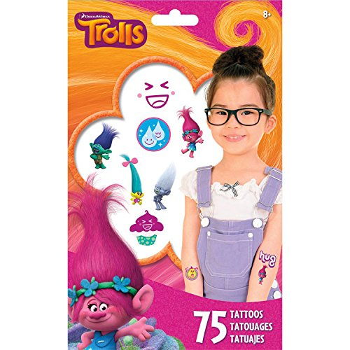 Best Prices! DreamWorks Trolls Temporary Tattoos 75 Ct.