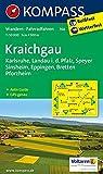 Kraichgau, Karlsruhe, Landau i. d. Pfalz, Speyer, Sinsheim, Eppingen, Bretten, Pforzheim: Wanderkarte mit Aktiv Guide und Radwegen. 1:50000 (KOMPASS-Wanderkarten, Band 768)