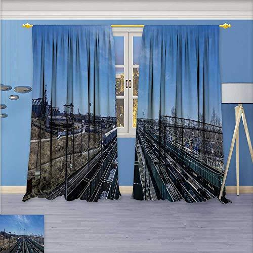 (aolankaili Room Darkening Window Curtain Panel Pair Palermo for Living Room 72W x 96L Inch)